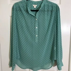J. Crew sheer blouse | Size Small